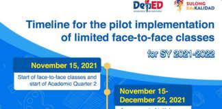DepEd pilot face